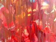 Detailaufnahme Buntes Acrylgemälde abstrakt modern mit vielen hellen Farben