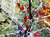 Detailaufnahme Modernes sehr großes abstraktes Acrylgemälde