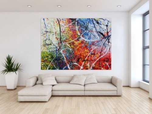 Modernes sehr großes abstraktes Acrylgemälde