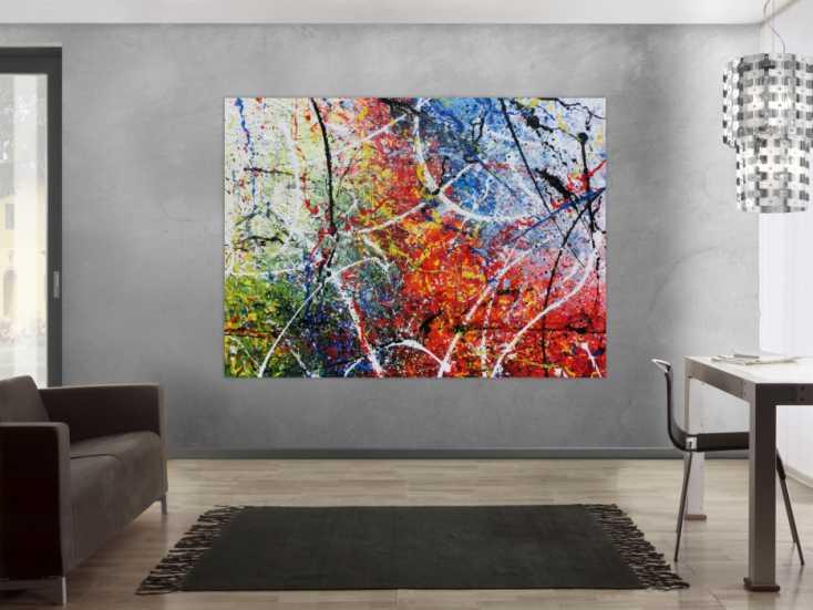 #692 Modernes sehr großes abstraktes Acrylgemälde 150x200cm von Alex Zerr