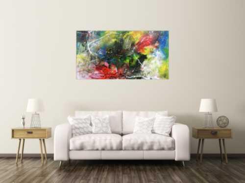 Modernes Acrylbild abstrakt einzigartig und bunt