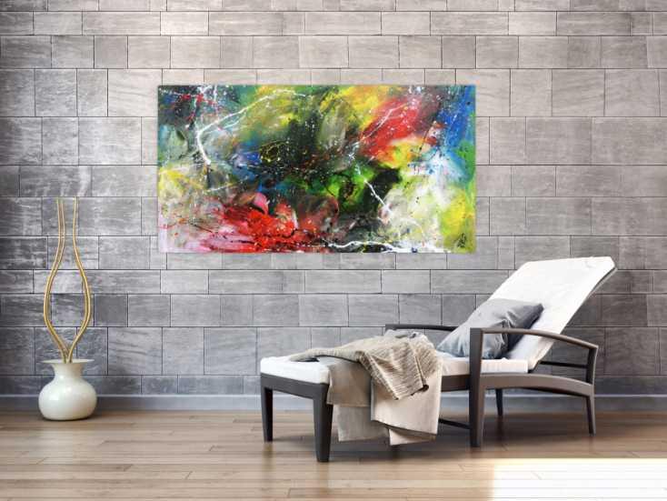 #694 Modernes Acrylbild abstrakt einzigartig und bunt 80x150cm von Alex Zerr