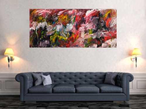 Sehr modernes abstraktes Gemälde aus Acryl moderne Malerei zeitgenössisch