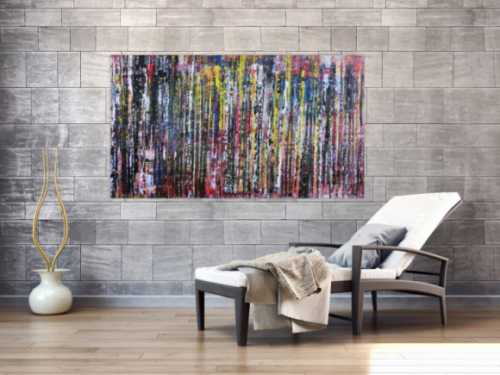 Abstraktes Acrylgemälde Spachteltechnik modern und bunt