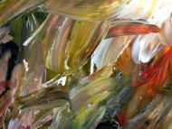 Detailaufnahme Abstraktes Acrylgemälde sehr modern mit hellen und dunklen Farben