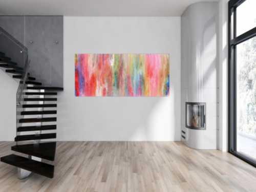 Helles und buntes Acrylgemälde abstrakt sehr modern und freundlich