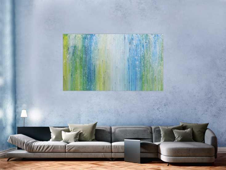 modernes acrylgem lde mit hellen farben in blau t rkis. Black Bedroom Furniture Sets. Home Design Ideas