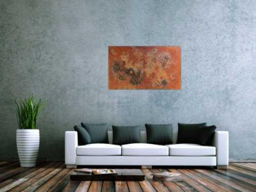 Abstraktes Gemälde aus echtem Rost