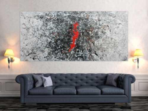 Sehr modernes abstraktes Acrylgemälde modern in frau schwarz weiß und braun