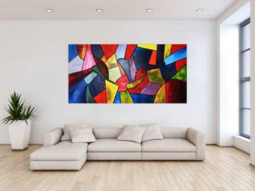 Buntes Acrylbild im modernen Stil