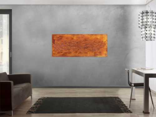 Abstraktes Gemälde aus echtem Rost und starker Struktur sehr modern