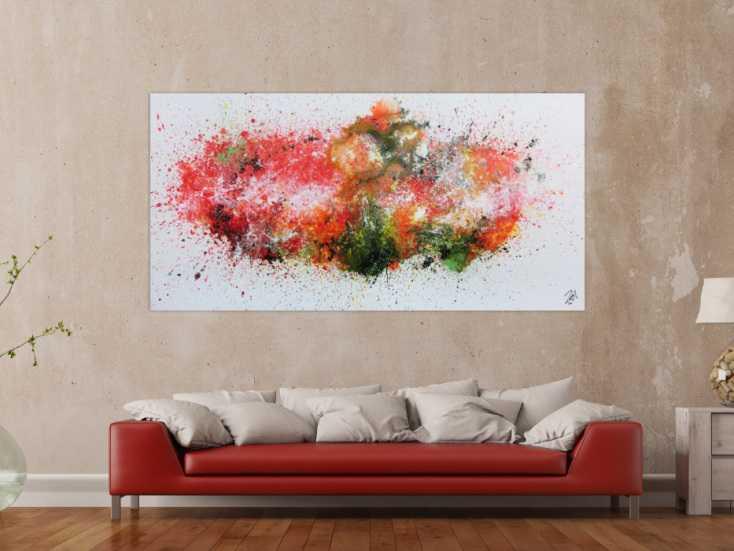 #732 Buntes abstraktes Acrylgemälde modern und zeitgenössisch explosion ... 100x200cm von Alex Zerr