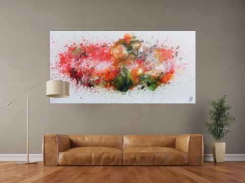 Buntes abstraktes Acrylgemälde modern und zeitgenössisch explosion der Farben