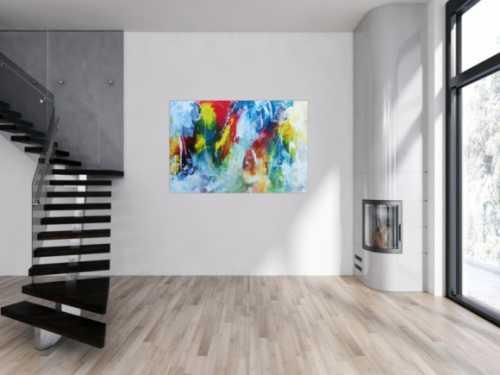 Modernes buntes Acrylbild abstrakt modern viele Farben