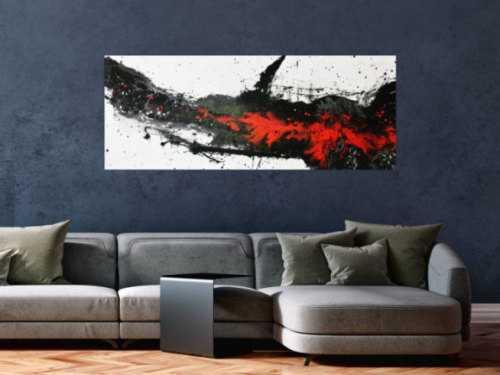 Modernes Acrylbild in schwarz/weiß/rot