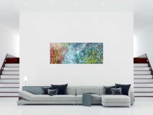 Buntes Acrylbild modern abstraktes Gemälde mit vielen Farben