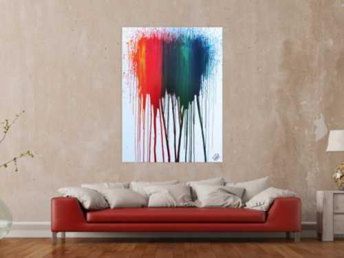Abstraktes Acrylbild modernes Gemälde bunt zeitgenössisch