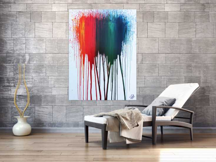 #748 Abstraktes Acrylbild modernes Gemälde bunt zeitgenössisch 140x100cm von Alex Zerr