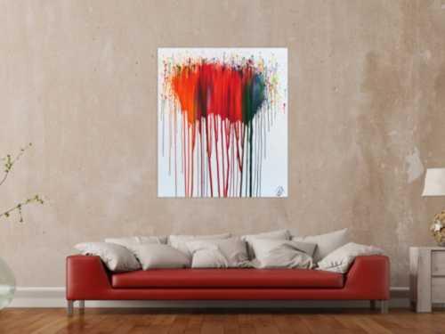 Abstraktes Acrylbild sehr modernes Gemälde mit bunten Farben