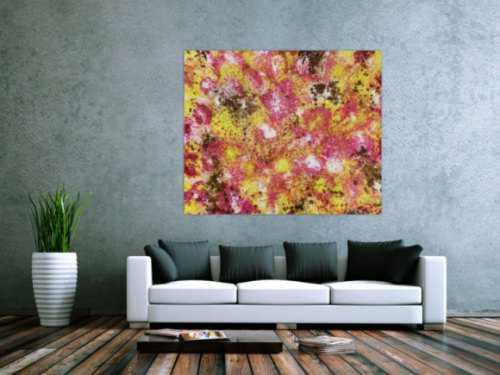 Abstraktes Acrylbild mit spannendem Muster modern und zeitgenössisch