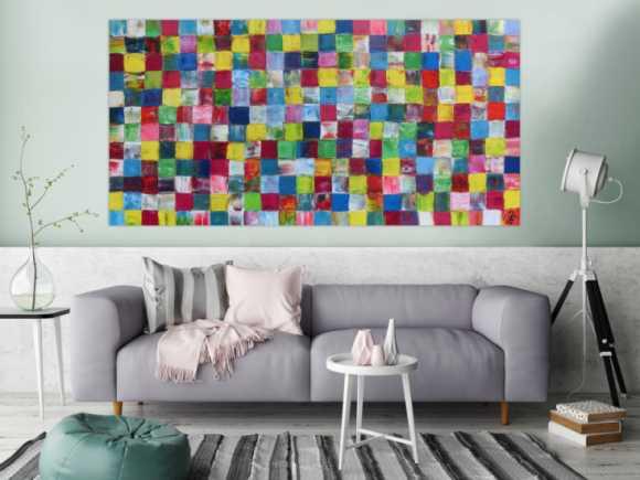 abstrakte gem lde mit spachteltechnik online kaufen. Black Bedroom Furniture Sets. Home Design Ideas