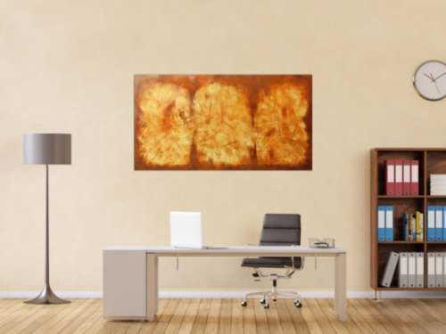 Modernes Gemälde aus echtem Rost