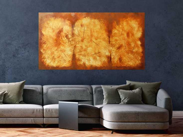#77 Modernes Gemälde aus echtem Rost 80x150cm von Alex Zerr
