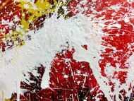 Detailaufnahme Abstraktes Acrylbild bunt modern Splashstyle Action Painting