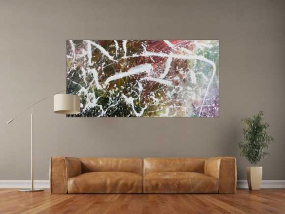 Modernes Acrylbild Action Painting abstraktes Gemälde