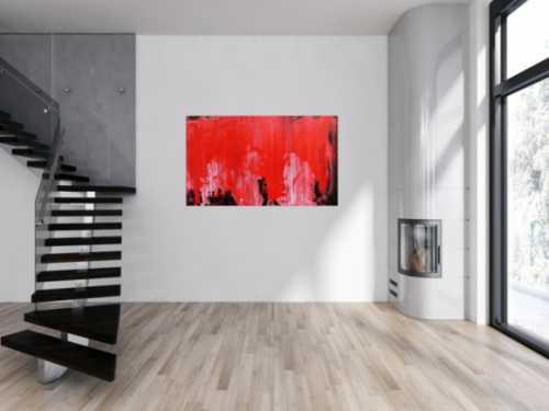 Modernes Gemälde abstrakte viel rot und schwarz zeitgenössisch schlicht
