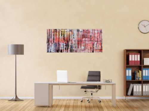 Abstraktes Acrylbild Spachteltechnik modern bunt zeitgenössisch