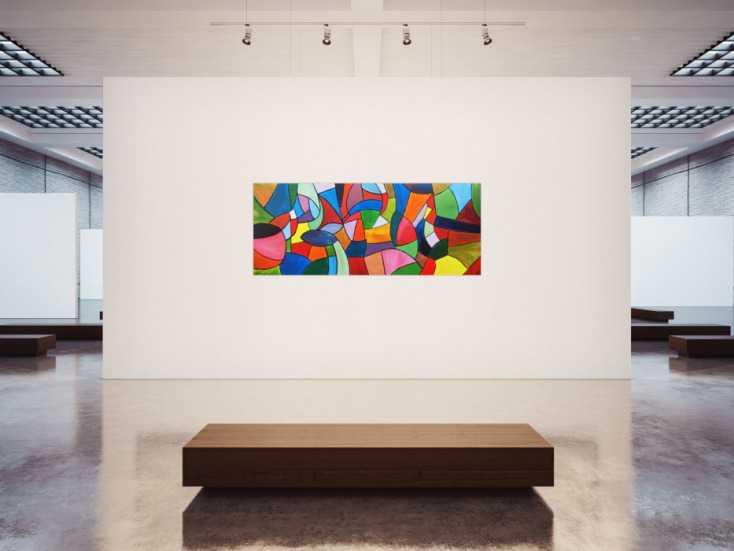 #78 Buntes Acrylgemälde 80x200cm von Alex Zerr