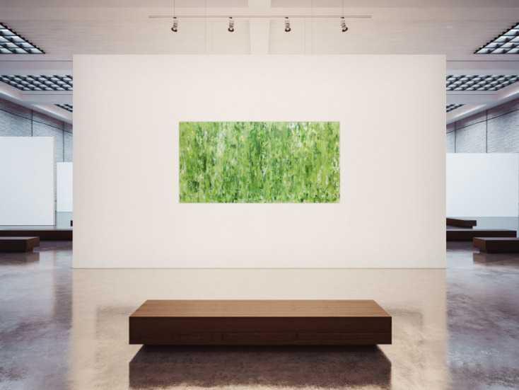 #783 Grünes Acrylgemälde abstraktes Acrylbild modern schlich ... 100x200cm von Alex Zerr