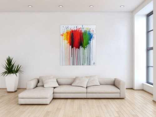 Abstraktes Gemälde bunt moderne zeitgenössisch viele Farben