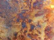 Detailaufnahme Gemälde aus echtem Rost modern zeitgenössisch abstrakt