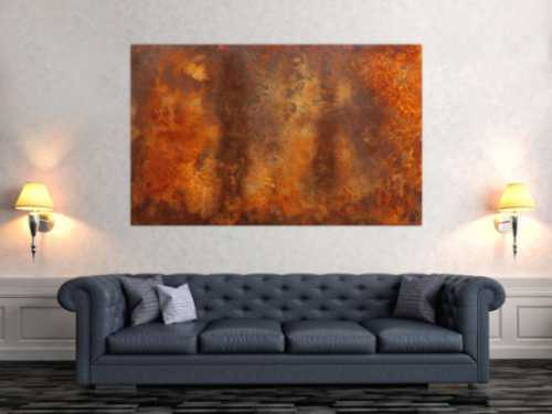 Gemälde aus echtem Rost modern zeitgenössisch abstrakt