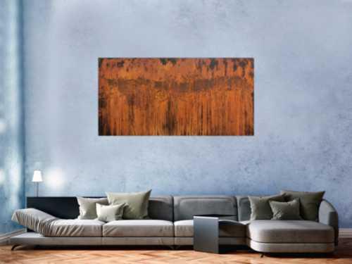 Abstraktes Gemälde aus echtem rost moderne Malerei