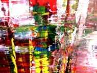 Detailaufnahme Abstraktes Acrylbild Spachteltechnik modern zeitgenössisch