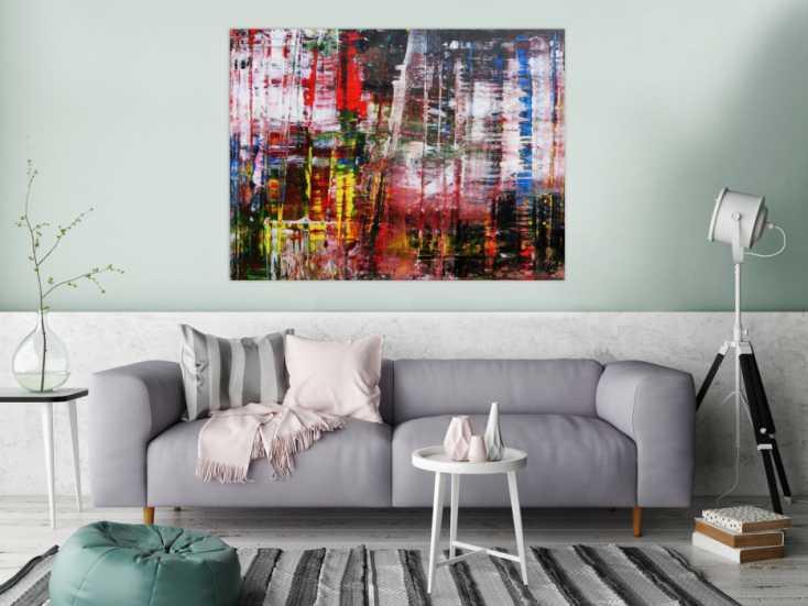 #795 Abstraktes Acrylbild Spachteltechnik modern zeitgenössisch  100x130cm von Alex Zerr
