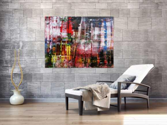 Abstraktes Acrylbild Spachteltechnik modern zeitgenössisch
