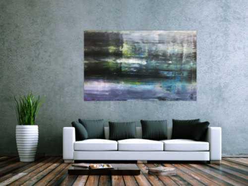 Sehr modernes abstraktes Acrylgemälde schlicht ellegant zeitgenössisch