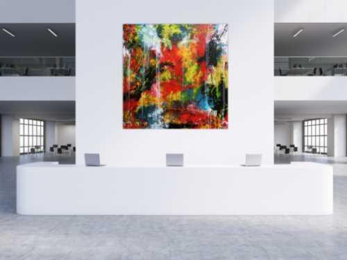 Abstraktes Acrylgemälde zeitgenössisches Bild sehr modern und groß