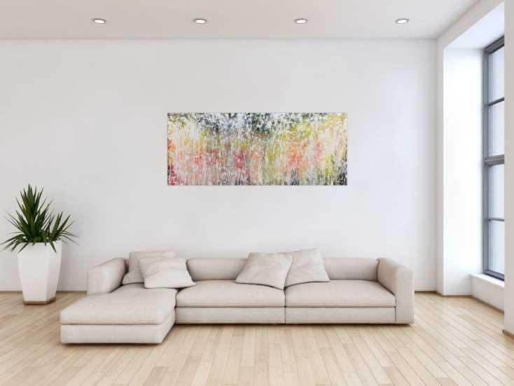 #799 Abstraktes Acrylbild modern zeitgenössisch schlicht 60x150cm von Alex Zerr