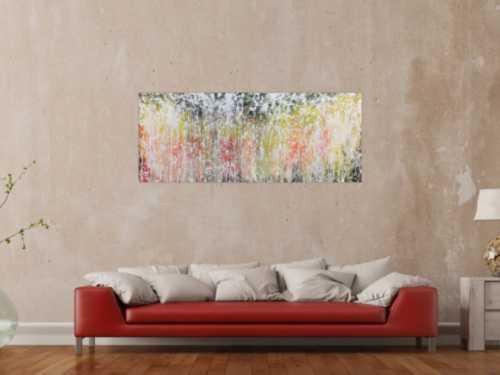 Abstraktes Acrylbild modern zeitgenössisch schlicht