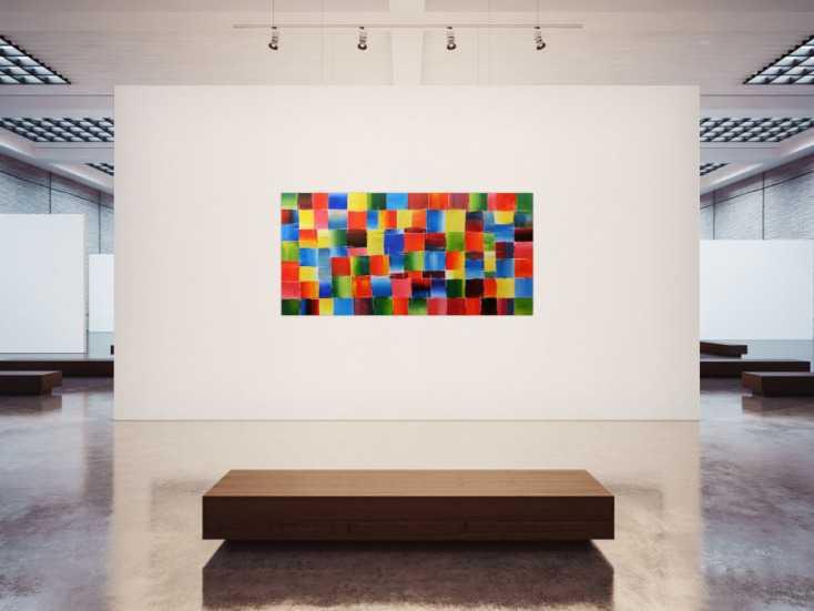 #81 Buntes Acrylbild 100x200cm von Alex Zerr