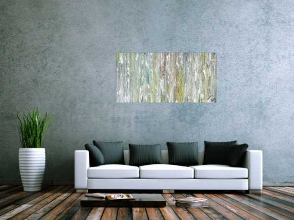 Abstraktes Gemälde modern groß helle Farben schlicht
