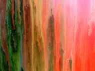 Detailaufnahme Buntes abstraktes Gemälde modernes Acrylbild mit vielen Farben Regenbogen