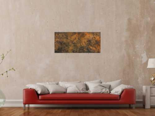 Modernes abstraktes Gemälde aus echtem Rost schlicht minimalistisch