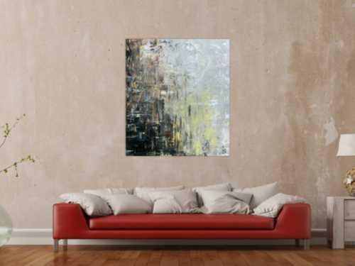 Abstraktes Gemälde modern mediterrane Farben