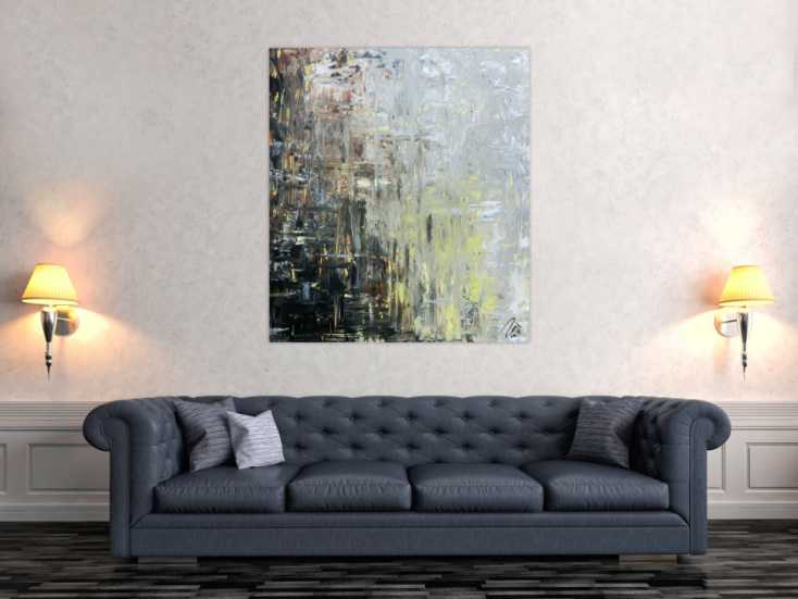 abstraktes gem lde modern mediterrane farben auf leinwand. Black Bedroom Furniture Sets. Home Design Ideas